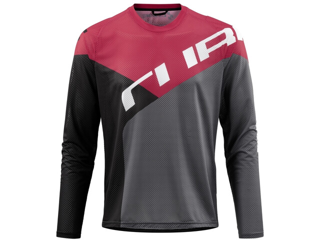 Cube Edge Round Neck Jersey longsleeve Herre black´n´red
